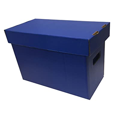 (1) Max Pro SHORT Colored Comic Storage Box - Holds 150 - 175 Comic Books - BLUE: Sports & Outdoors
