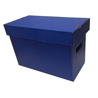 (1) Max Pro SHORT Colored Comic Storage Box - Holds 150 - 175 Comic Books - BLUE: Sports & Outdoors [5Bkhe0403278]