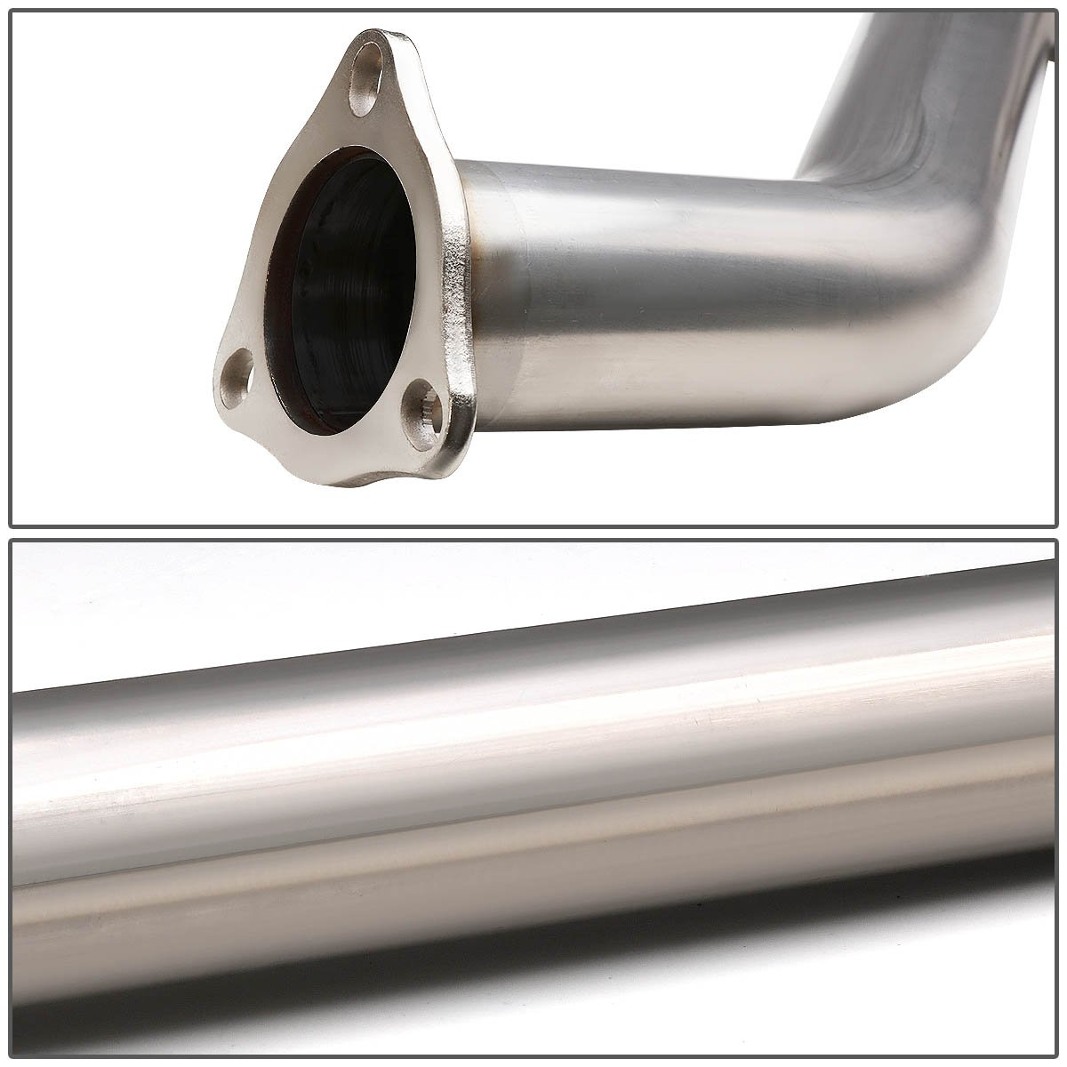 For Honda Civic Si Stianless Steel 4 inches Rolled Tip Oval Muffler Catback Exhaust System