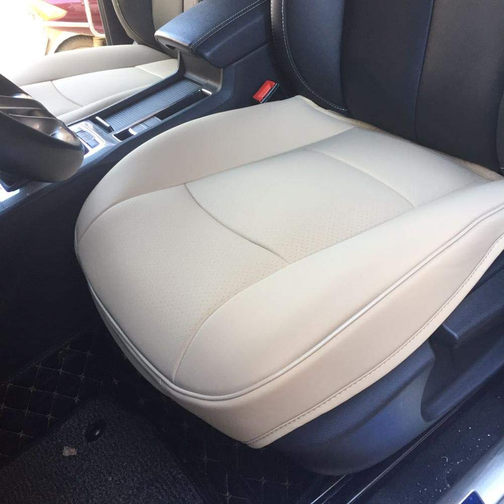 Front Seat Cushion Cover No Backrest Single Seat Cushion All Surrounded By Perforated Breathable Four Seasons Universal Beige Lucky-all star