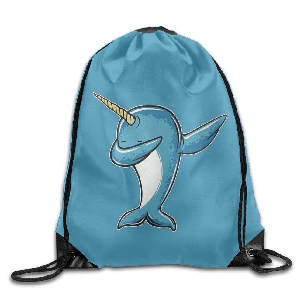 c5d43ee83c01 Cool Dabbing Narwhal Drawstring Bags Daypack Tote Cinch for  Home
