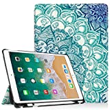 Fintie iPad Pro 10.5 Case with Built-in Apple Pencil Holder - [SlimShell] Ultra Lightweight Standing Protective Cover with Auto Wake/Sleep for Apple iPad Pro 10.5 Inch 2017 Tablet, Emerald Illusions