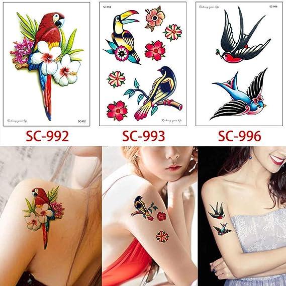 adgkitb 2 Piezas Tatuaje Temporal Etiqueta Falsa Flor de Zorro ...