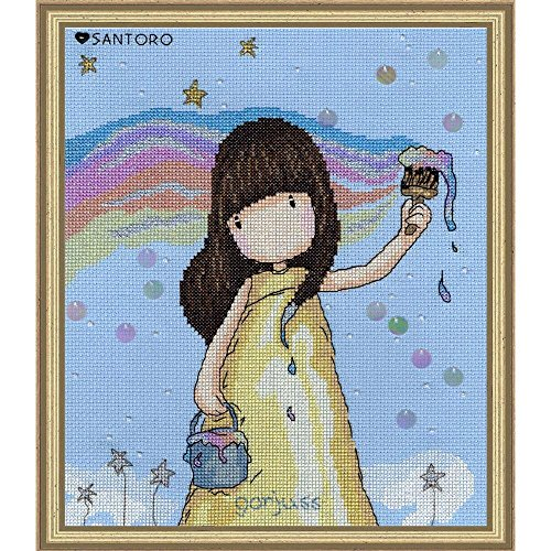 Bothy Threads Gorjuss Rainbow Dreams Cross Stitch Kit
