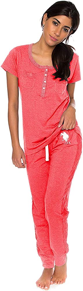 U.S. Polo Assn. Womens Short Sleeve Shirt and Long Pajama Pants ...