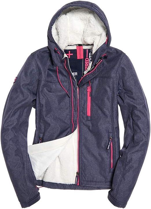 Superdry Damen Hooded Winter Windtrekker Sportjacke