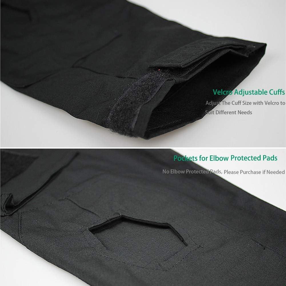 Camisa Multicam Transpirable Ripstop para Caza Militar Airsoft zuoxiangru Camiseta de Combate t/áctica para Hombres