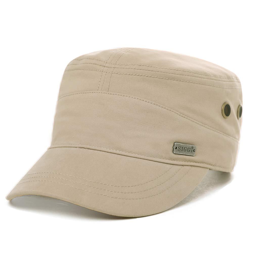 Mens Cotton Canvas Army Military Radar Combat Hat Women Large Head Baseball Cap Khaki 56-60cm by Fancet