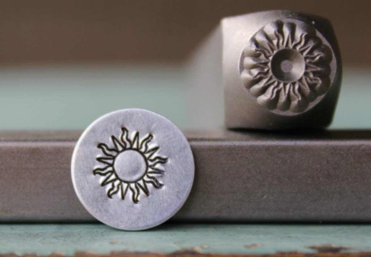 8mm Sun Metal Punch Design Jewelry Stamp MDCH-137