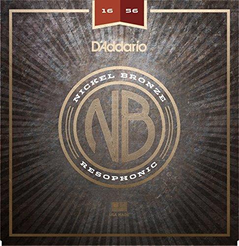 Bronze Nickels (D'Addario NB1656 Nickel Bronze Acoustic Guitar Strings, Resophonic)