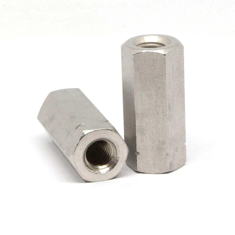 Gewindemuffe Sechskant Verbindungsmutter Langmutter Distanzmutter Edelstahl V2A A2 M8 x 40mm x 4 St/ück
