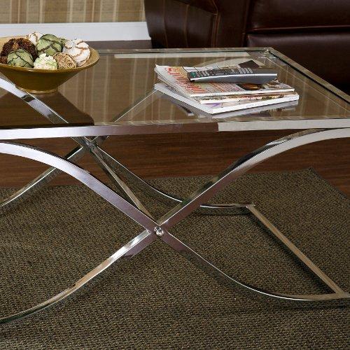 SEI Vogue Chrome Coctail Table