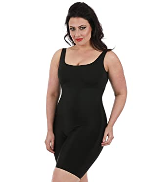 0463dc913d01b InstantFigure Womens Plus Size Tank Bodyshorts Slimming Shapewear  (3X-Large