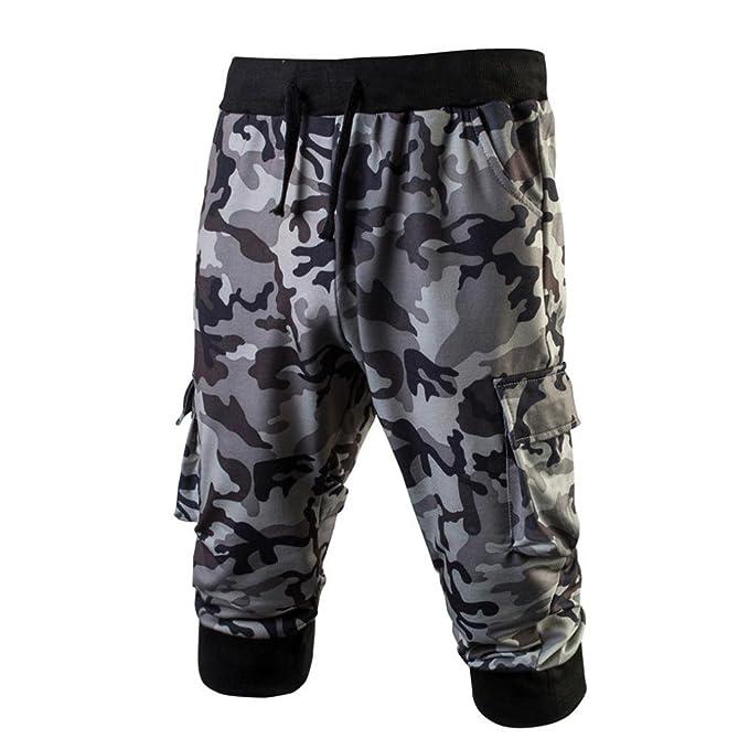 Sannysis Pantalones Casuales para Hombres 2018 Verano Pantalones Deportivos Versión para Hombres de la Tendencia de