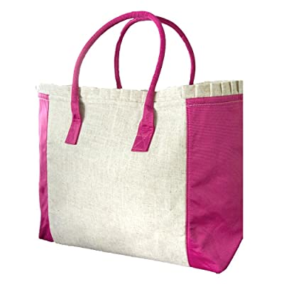Mainstreet Collection Linen Weekender Tote Bag