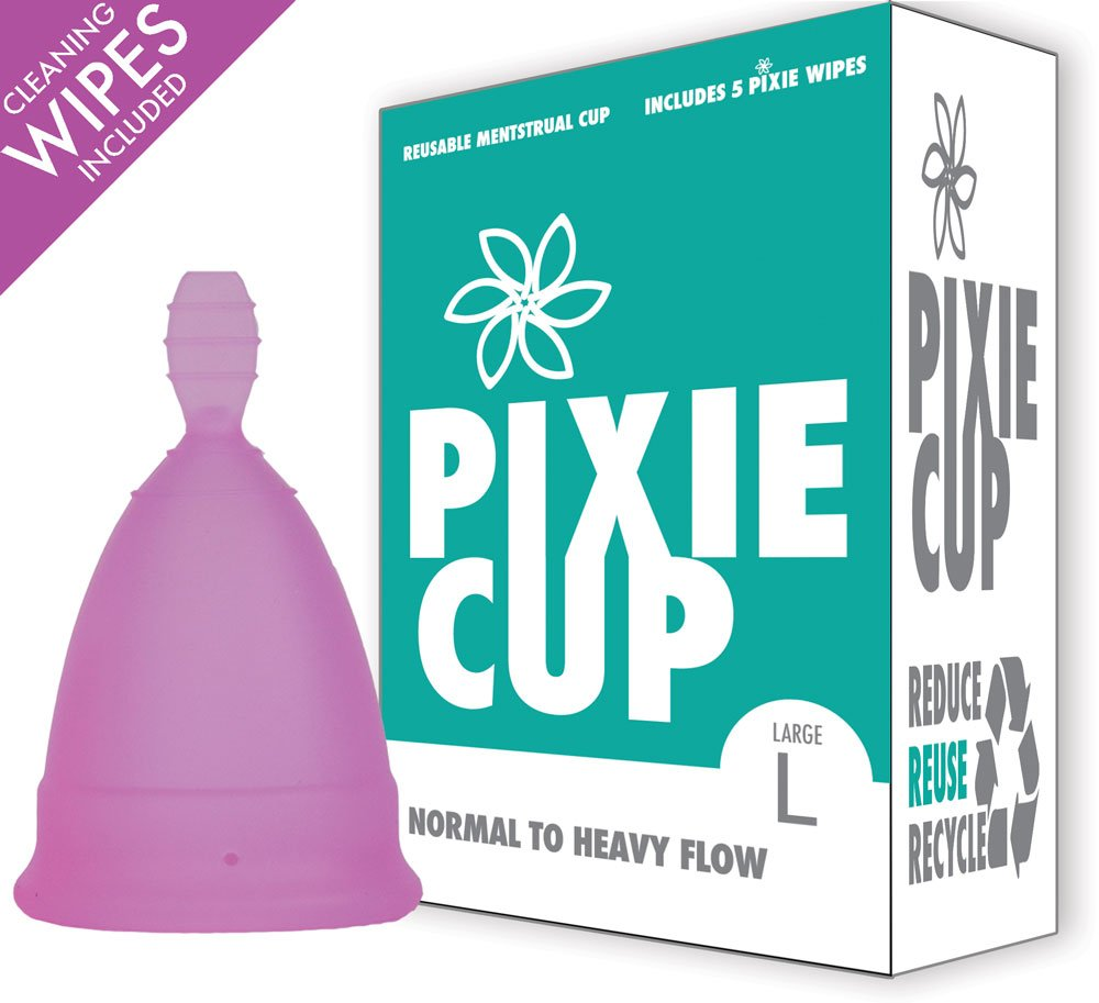 Ranked 1 for Most Comfortable Menstrual Cup and Better Removal Stem Than All Other Brands - Every Cup Purchased One is Given to a Woman in Need! (Large)