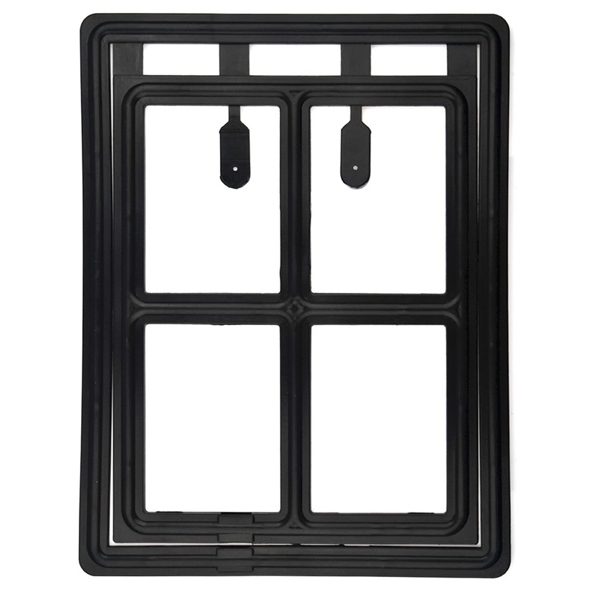 YiFeng Pet Screen Door Dog Cat Flap With Magnetic Automatic Lock (Large, Black)