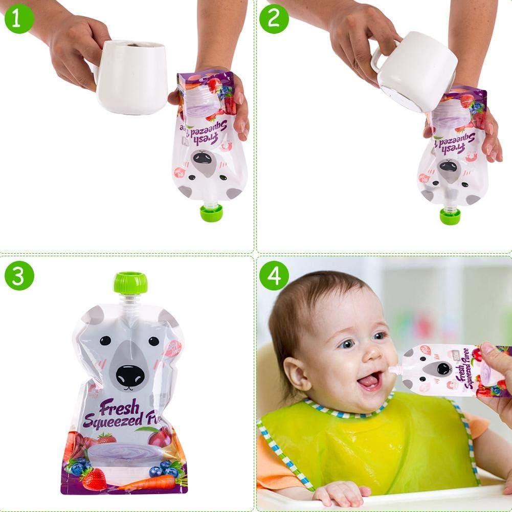Wiederverwendbare Erg/änzungsnahrungstasche 8 Packungen Envisioni Babynahrungstasche