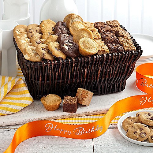 Shari's Berries - Mrs. Fields Classics with Happy Birthday Ribbon - 1 Count - Gourmet Baked Good Gifts