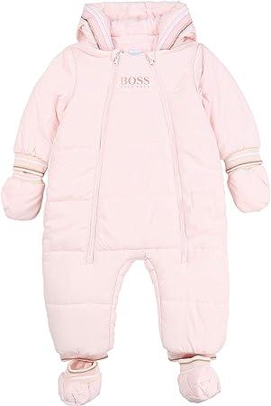Combinaison short en jersey BOSS BEBE COUCHE BABY PINK 1MOIS