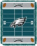 "The Northwest Company Officially Licensed NFL Philadelphia Eagles Field Bear Woven Jacquard Baby Throw Blanket, 36"" x 46"""