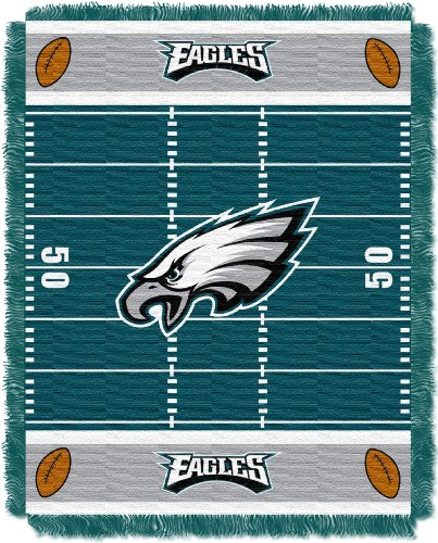 The Northwest Company Officially Licensed NFL Philadelphia Eagles Field Bear Woven Jacquard Baby Throw Blanket, 36