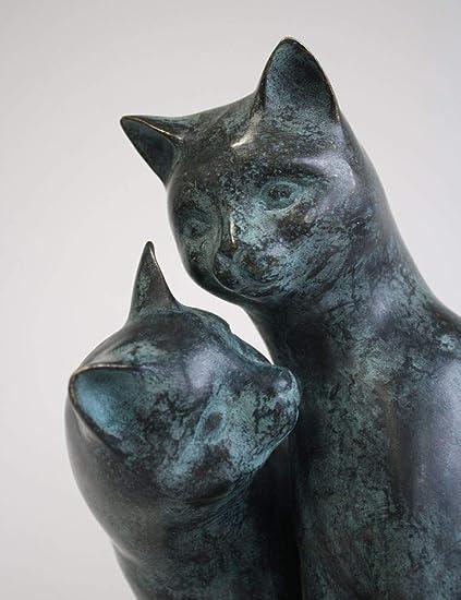 H. Packmor GmbH - Escultura de Bronce para Decorar el jardín, diseño de Pareja de Gatos: Amazon.es: Jardín