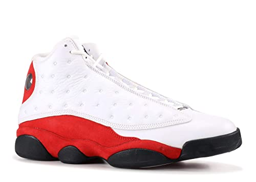 b7f116bf212c48 Nike Air Jordan 13 Retro Chicago Mens White Team Red Black 414571-122 (13