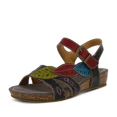 L'Artiste by Spring Step Women's Kukonda Black Multi Sandal
