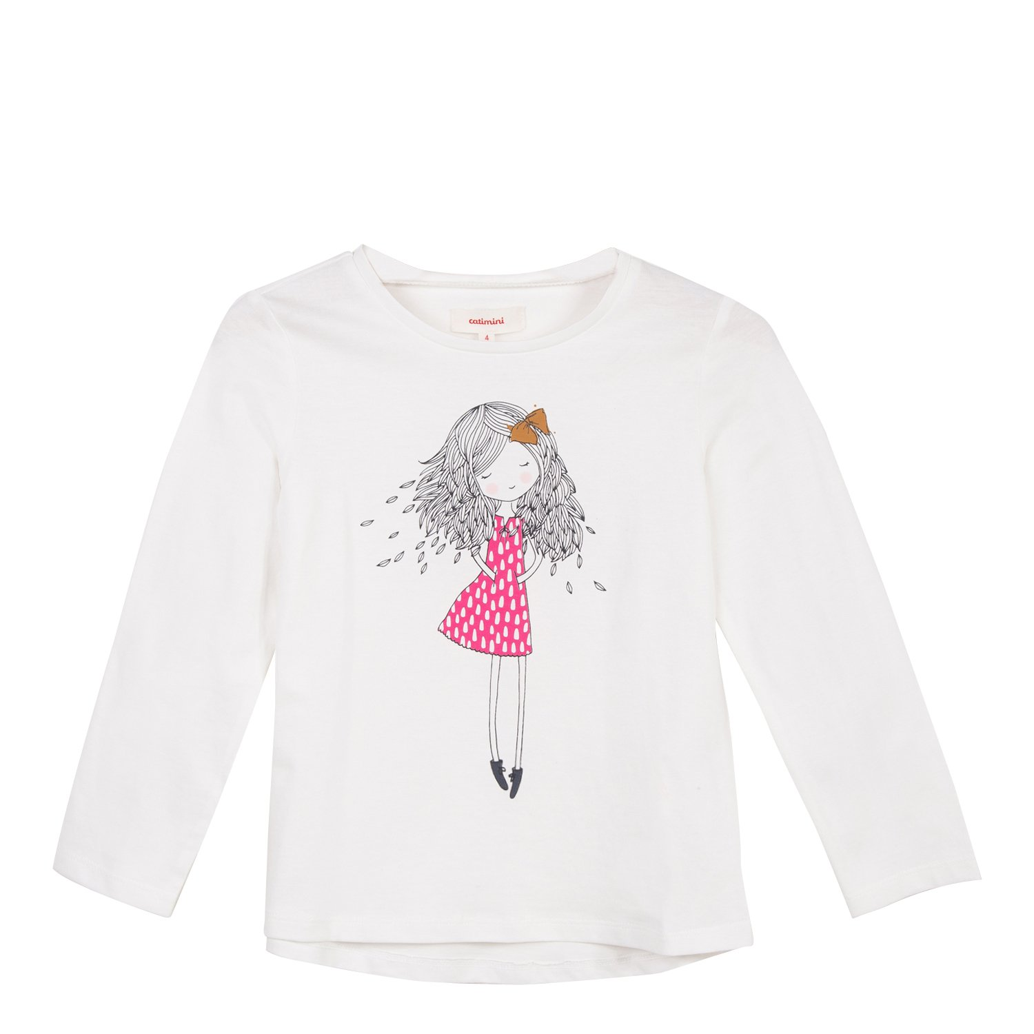 Catimini Girl's T-Shirt Manches Longues Pour Long Sleeve Top