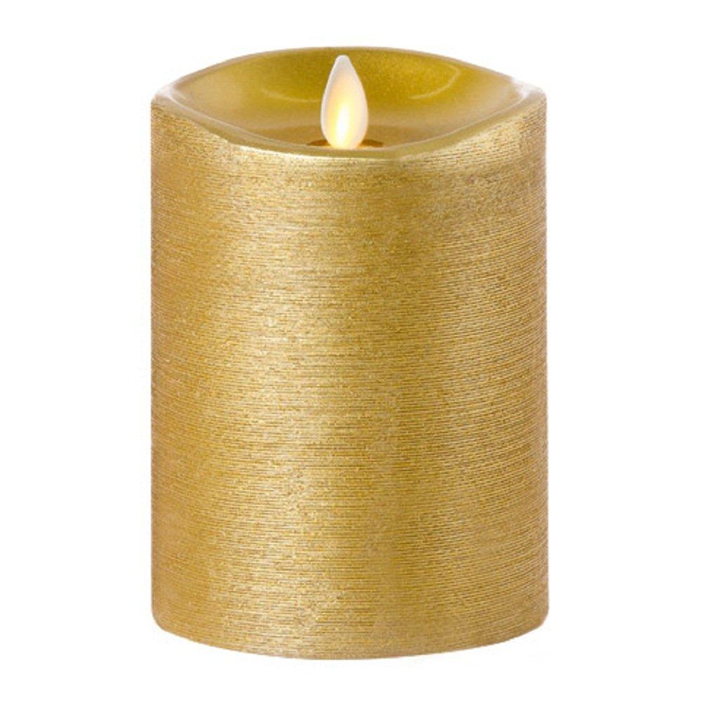 Darice Luminara Flameless Candle Metallic Gold 3.5 x 5.5 inches