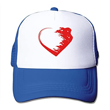 af58d23ddcd98 CCbros Love Warrior Heart Running Mesh Back Hats Caps One Size Fit All  RoyalBlue