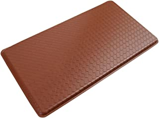 "product image for GelPro Classic Anti-Fatigue Kitchen Comfort Chef Floor Mat, 20x36"", Basketweave Chestnut Stain Resistant Surface with 1/2"" Gel Core for Health and Wellness"