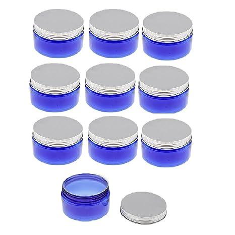 Baoblaze Vacía Caja Portátil Botella de Plástico a Prueba de Fugas Macetas Redondas Latas de Maquillaje