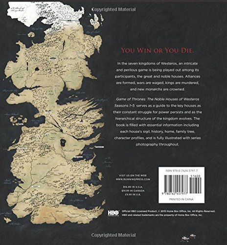 Game of thrones the noble houses of westeros seasons 1 5 amazon game of thrones the noble houses of westeros seasons 1 5 amazon running press libros en idiomas extranjeros gumiabroncs Images