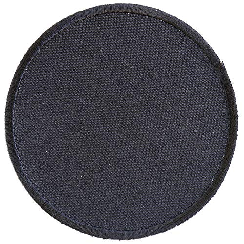 Black 3 Inch Round Blank Patch - By Ivamis Trading - 3x3 inch - Twill Fabric - Paper Backing - Embroidered and Laser Cut ()