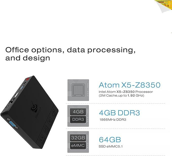 Maxesla Mini PC Ordenador de Portátil BT3 Pro Computadora de ...