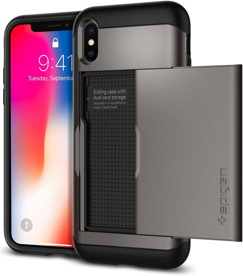 Spigen Slim Armor CS Designed for iPhone Xs Case (2018) / Designed for iPhone X Case (2017) - Gunmetal