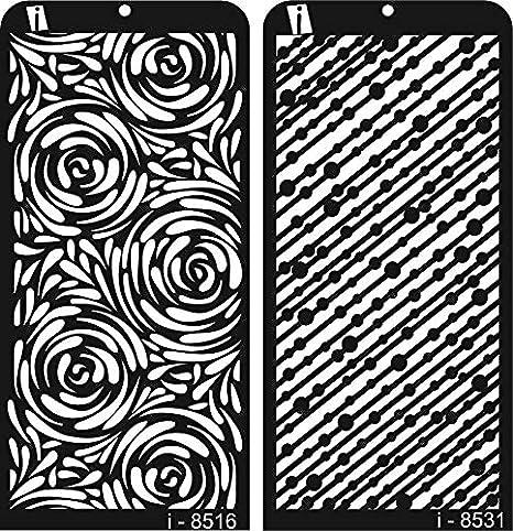 iCraft Decorative Layering Template Craft Stencil (i-8516/8531) Set of 2 Craft Stencils