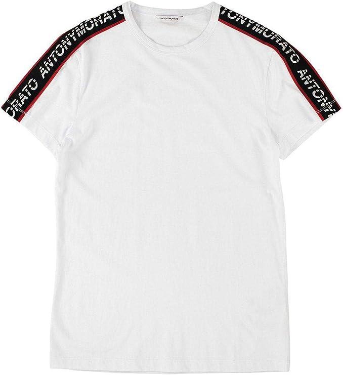 Antony Morato Camiseta Cinta Logo Blanco Hombre M Blanco: Amazon ...