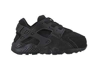 NIKE Huarache Run (TD), Chaussures Mixte Bébé, Noir, 17