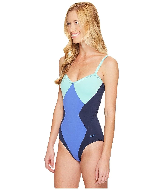 f2e1aeec6b7 Nike Women's Color Surge Bandeau Tank Swimsuit S Medium Blue at Amazon  Women's Clothing store: