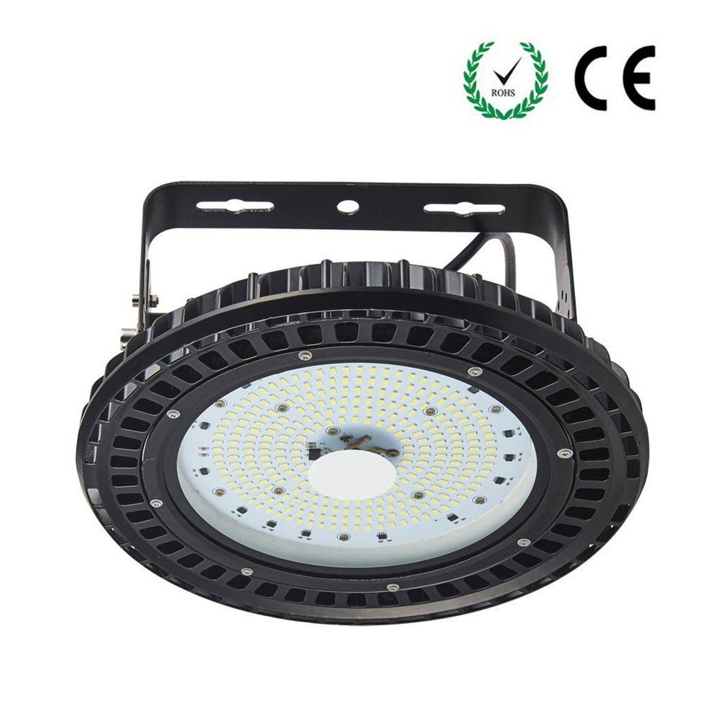 UFO LED Industrielampe, Samber LED Hallenleuchte Industrial Kronleuchter Hallenstrahler Hallenbeleuchtung Werkstattbeleuchtung, Kaltweiß 6000-6500K, Abstrahlwinkel 120° (100W - 12000LM)