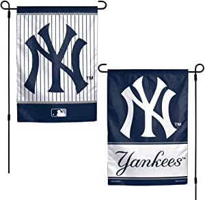 WinCraft MLB New York Yankees 12x18 Garden Style 2 Sided Flag, One Size, Team Color