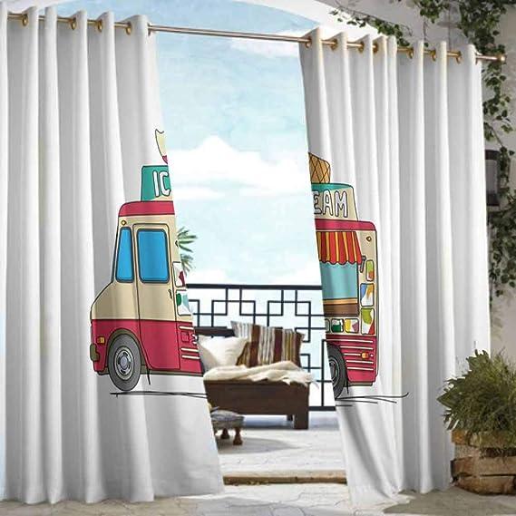 VIVIDX Cortina de Puerta corredera, camión, oscurecimiento de habitación, reducción de Ruido: Amazon.es: Jardín