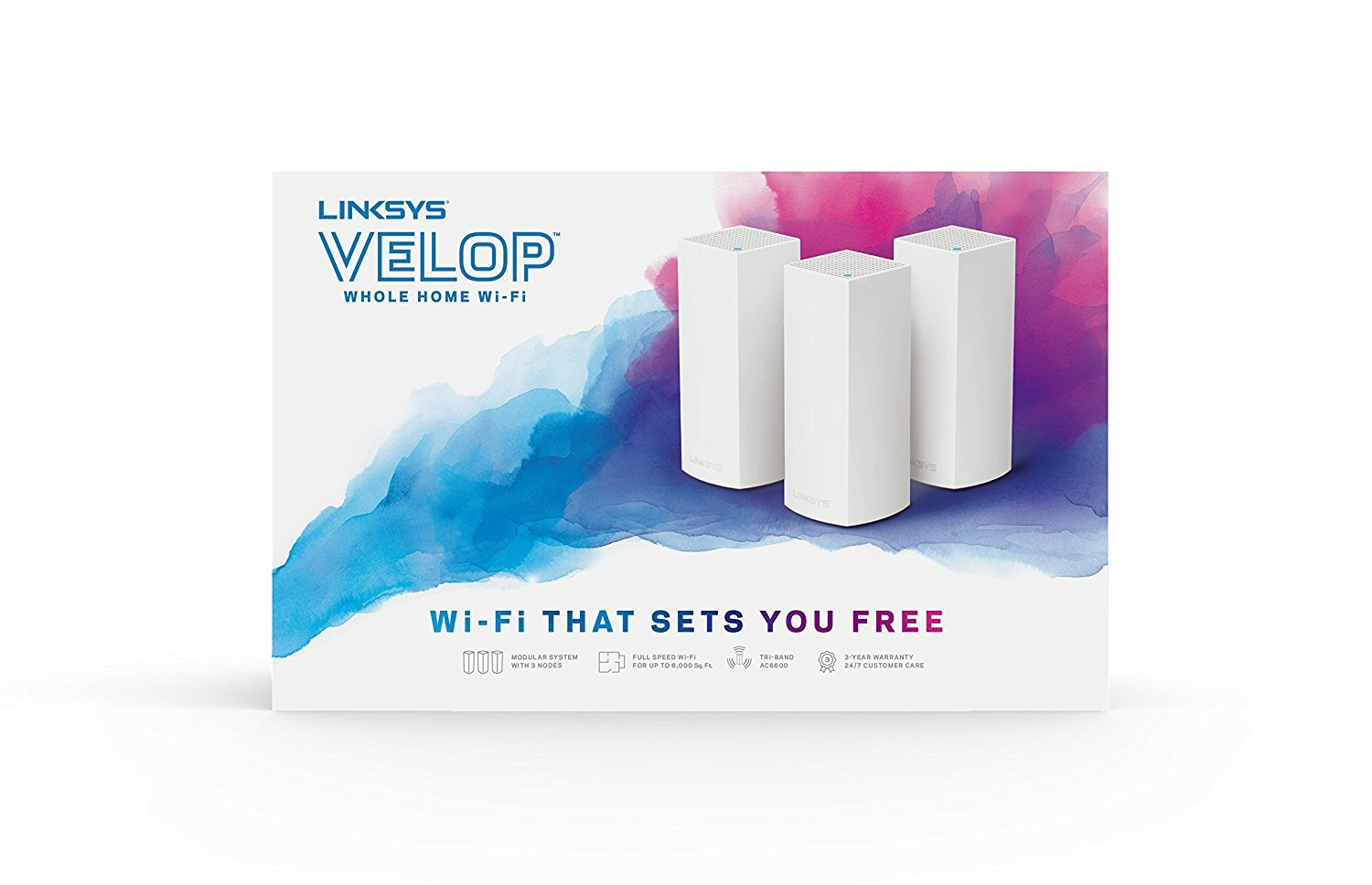 Amazon com: Linksys Velop Tri-band Whole Home WiFi Mesh System