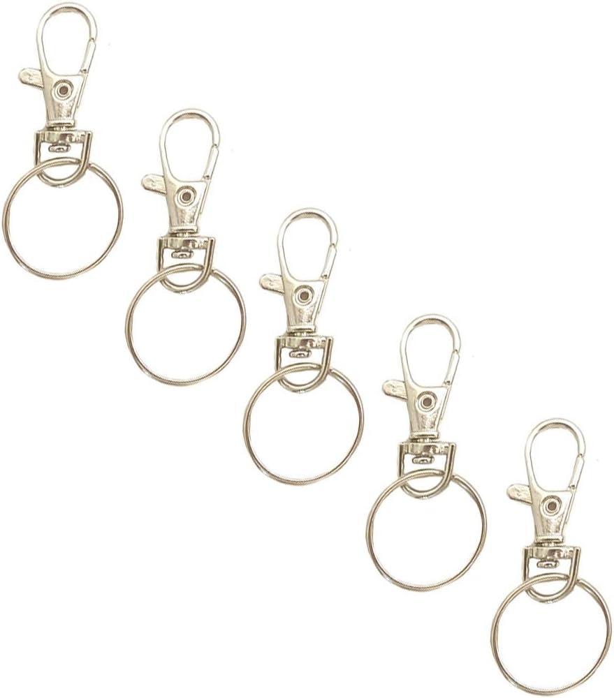 20 Sets Swivel Trigger Clip Lobster Clasp Snap Hook Key Ring Findings DIY