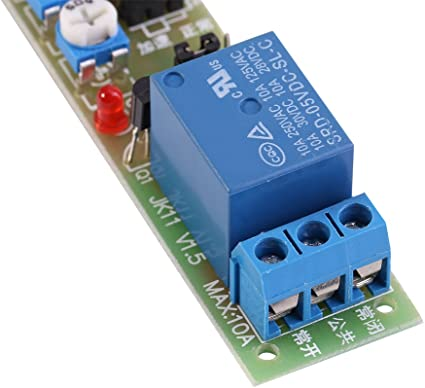 Module de minuterie Minuterie de cycle r/églable Retard On//Off Switch Module de relais DC 5V//12V//24V 0-15min//0-60min DC5V,0-15min en option