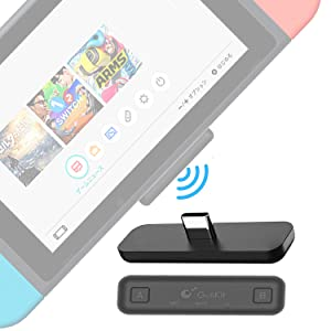Gulikit Compatible for Nintendo Switch & Switch Lite Bluetooth Adapter, PS4 PC APTX Low Latency Wireless Transmitter Receiver with A/B Dual Paring for Airpods QC35 etc. Bluetooth Headphone Speakers