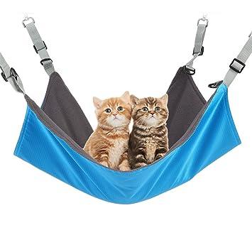 AngelaKerry gato hamaca cama confortable cama colgante del animal doméstico Hamaca para gatos, perros pequeños, conejos 55 x43cm-Azul: Amazon.es: Jardín